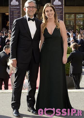 Maria Elena Boschi e Paolo Giachetti