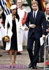 Meghan Markle al fianco del Principe Harry durante il Commonwealth Day