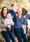 Kate Middleton e il principe Wiliam con i figli: per la prima volta nella nuova foto si vede bene il volto di Louis