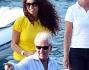 Afef e Marco Tronchetti Provera sorridenti in vacanza
