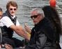 Ritorno sullo barca per Afef, Marco Tronchetti Provera ed il figlio Bruno