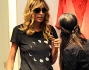 Elenoire Casalegno nella boutique Richmond con Alessandra Moschillo