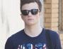Chris Colfer per girare un video promozionale per annunciare la prossima edizione del telefilm Glee