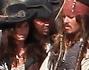 Penelope Cruz incinta e Johnny Depp sul set del nuovo episodio de \'I pirati dei caraibi\'