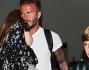 David Beckham con i figli in aeroporto a Los Angeles: le foto