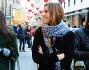 Eleonora Pedron a spasso con un'amica per Milano