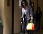 Shopping meneghino per Emanuela Folliero, il figlio Andrea avuto da una recente relazione e Giuseppe Oriccio