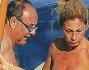 Gerry Scotti a largo di Montecarlo con la compagna Gabriella che predilige l\'abbronzatura integrale in topless