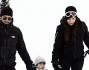 Pronti a sfidare la neve: Ilaria D'amico il marito Rocco Attisani ed il figlio Pietro