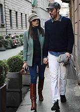 Gigi Buffon e Ilaria D'Amico fanno shopping a Milano: le foto
