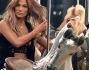 Jennifer Lopez sexy in shorts e reggiseno neri a disegni floreali