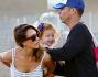 Jessica Alba in compagnia del marito Cash Warren e delle figlie Haven, 6 anni, e Honor, 3