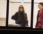 Lady Gaga  stata fotografata durante una lunga visita allo store meneghino di Versace insieme ad Allegra