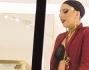 Lady Gaga con Allegra nella boutique Versace in pieno centro a Milano