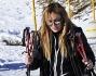 L\'opinionista di Mattino 5 Lory Del Santo si rilassa sulla neve di Sestriere