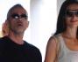 Eros Ramazzotti e Marica Pellegrinelli escono dal ristorante dopo un veloce pranzo al Resentin