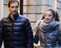 L'allenatore del Milan Massimiliano Allegri a spasso con la figlia Valentina