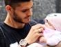 Mauro Icardi con la piccola Francesca