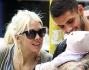 Mauro Icardi con Wanda Nara e la piccola Francesca