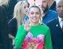 Miley Cyrus al termine delle registrazioni del Jimmy Kimmel Live