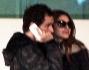 Miriam Leone con il fidanzato Davide Dileo all\'aeroporto di Fiumicino