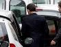 Nicolas Sarkozy all\'uscita della clinica