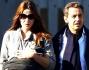 Nicolas Sarkozy e Carla Bruni a passeggio con la piccola Giulia
