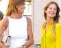 Look casual chic per la mamma e casual per la figlia: Cristina Parodi e Benedetta Gori
