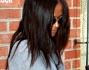 Casual e occhiali neri per coprire la stanchezza per Zoe Saldana