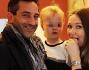 Matteo Viviani e Ludmilla Radchenko con la figlia Eva