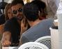 Francesco Arca, Matteo Branciamore e Primo Reggiani insieme a pranzo in un noto ristorantino della Capitale