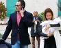 Sabrina Ghio lascia l'ospedale insieme alla piccola Penelope ed il marito Federico Manzolli