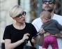 Scarlett Johansson con il marito Romain Dauriac e la figlia Rose