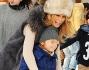 Silvia Abbate con il figlio Federico al lunapark a Milano