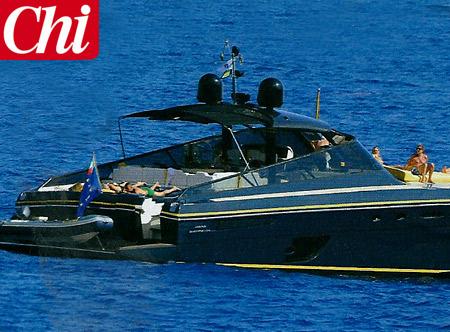 L'imbarcazione della vacanza di Totti e Ilary Foto e Gossip