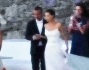 Giorgia Surina e Nicolas Vaporodis subito dopo la cerimonia a Mykonos