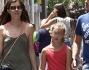 Una passeggiata in famiglia per Vittoria Puccini ed il compagno Fabrizio Lucci con la figlia Elena