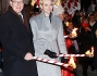 Alberto di Monaco e Charlene teneri genitori alla festa di Santa Devota: le foto