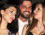 Alessio Lo Passo si fa coccolare dalle belle Velinas durante il party a Milano