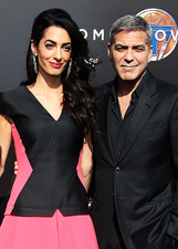 George Clooney e Amal Alamuddin sul red carpet di Tomorrowland: le foto