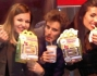 Anastasia Kuzmina, Andres Gil e Federica Nargi al fast food
