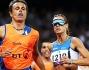Annalisa Minetti durante i 1500 m con la sua guida Andrea Giocondi