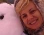 Antonella Elia a Rocca Calascio sulla neve