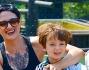 Un giro sui tronchi di Colorado Boat per Asia Argento ed i figli