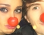 Naso da clown per Belen Rodriguez e Francesco Sole