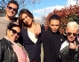 Belen ed il resto della crew di 'Come mi vorrei', tra cui l'assistente Antonia Achille e la grande amica Patrizia Griffini