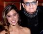 Belen Rodriguez posa con gli amici Alfonso Signorini e Cristiano Malgioglio