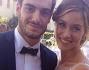 Alice Bellagamba con l'amico Pasquale Di Nuzzo il giorno del suo matrimonio