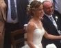 Gli Sposi posano insieme a Mara Venier, Nicola Carraro, Eleonora Giorgi e Paolo Ciavarro fratellastro dello sposo
