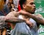Chris Brown durante una partita di basket molto particolare